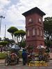 Malacca Tang Beng Swee Clock Tower and rickshaws