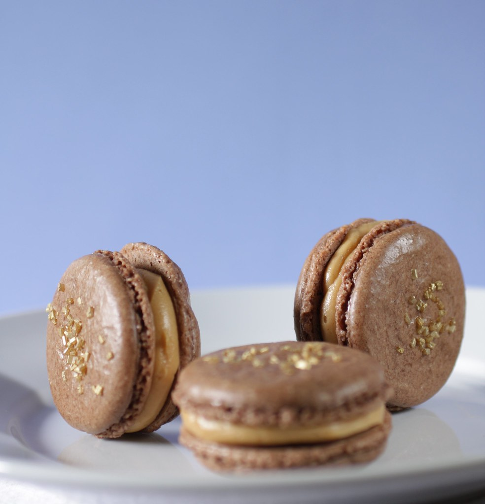 Chocolate and Salted Peanut Butter Macarons