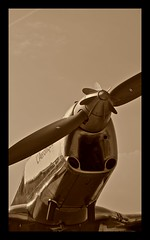 Old aeroplane in sepia... (Aman Iman ) Tags: old sepia plane switzerland airport erotic suisse geneva aircraft aeroplane propeller genve avion ancien rotique aroport hlice aronautique cointrin monomoteur u136 genevaclassics09 larotique