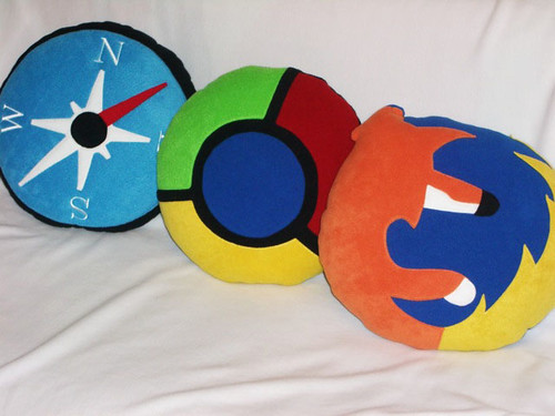 Browsers Icon Pillows