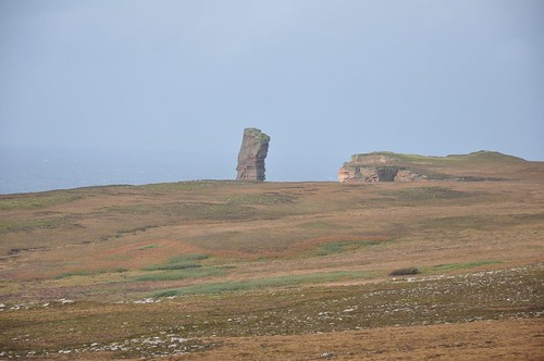 The Old Man of Hoy standing tall above the headland