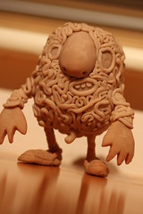 Mr Guts sculpt ([rich]) Tags: sculpey guts crocs sculpt