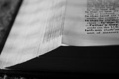 Fathom (Tamerah) Tags: blackandwhite paper book words pages dictionary fathom