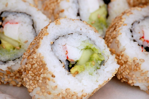 Inside-out California Rolls