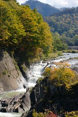 千鳥ヶ滝の激しい流れ
