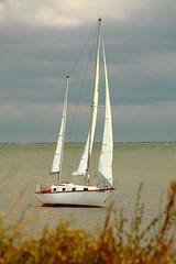 'Valhalla' takes Sail! (p.csizmadia) Tags: blue ohio sky water weather sailboat dark october waves skies sailing lakeerie wind gray wave greatlakes valhalla ketch lorain csizmadia pcsizmadia