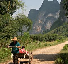 Kids Taxi (daveonhols) Tags: china  guangxi  xingping