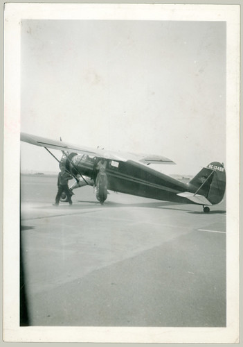 light plane and passengers