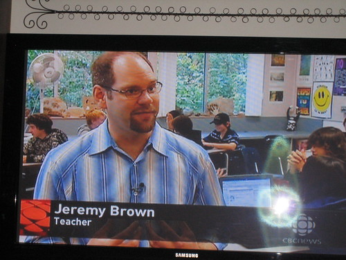 Jeremy on CBC Oct 19/09
