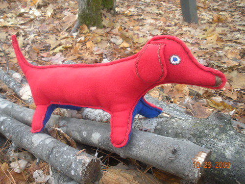 This stuffed wiener dog is awesome