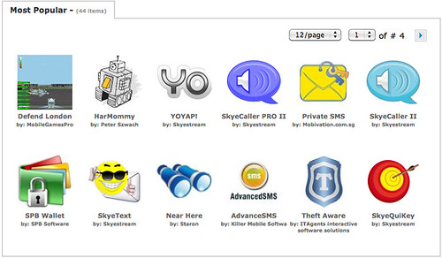 Symbian Horizon - Most Popular Apps