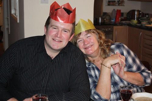 Steve & Mags at Christmas dinner