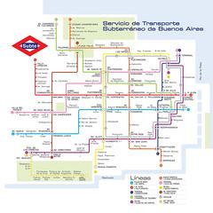 Red del subte de Buenos Aires como en Madrid (gac6479) Tags: madrid de metro buenos aires