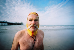 dave shot on lomo LC-W (lomokev) Tags: sea portrait man male beach sport dave swimming swim person pier lomo brighton wide wideangle human mustache swimmers lomograph brightonpier palacepier superdave lcw deletetag davesawyers posted:to=tumblr lcwide lomolcw lomolcwide file:name=110520lomolcwvc30 roll:name=110520lomolcwvc fredcat2014