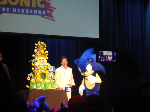 Sonic, Naka-San, and the 20th anniversary cake