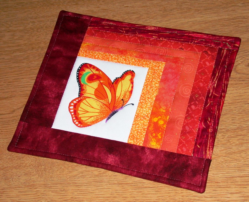 Another Butterfly One-Block Quilt
