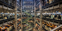 Lloyd's Layers (ho_hokus) Tags: 2017 lloyds lloydsoflondon iphone5se panorama insurance architecture building cityoflondon finance atrium escalators business interior limestreet