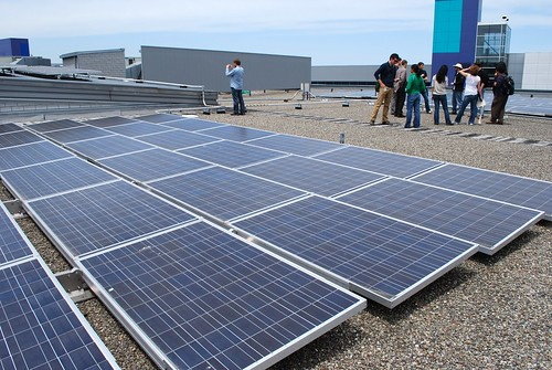 Tour of the solar panels at Google