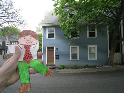 Flat Stanley in Front of my house