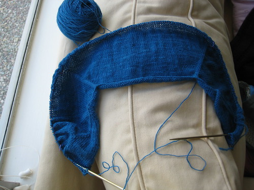 Featherweight cardigan progress