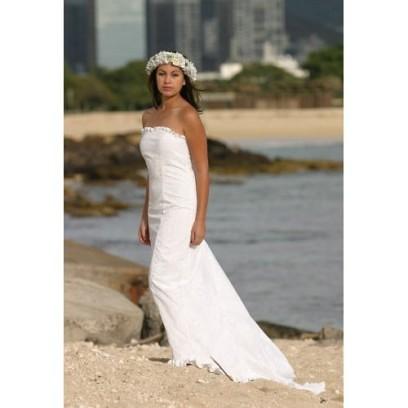 Beach Wedding Dresses Hawaiian Theme: Hawaiian Beach Wedding Dresses