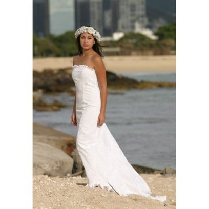 Beach Wedding Dresses Hawaiian Or Themed