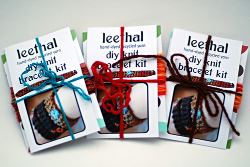 leethal bracelet knit kit