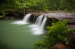 Falling Water Falls.  Of Course it Does. (clay.wells) Tags: county bw 6 motion pope blur nature water rock rural creek forest canon lens flow photography eos spring interesting stream long exposure grandmother outdoor clayton wildlife may wells falls falling explore management stop filter national nd area motor arkansas usm wilderness cp polarizer six 2009 ef 1740 circular ozark creeks wma density richland neutral piney ultrasonic bigmomma f4l 40d challengeyouwinner img6769 youvsthebest thechallengefactory yourock1stplace youdonthaveenoughtags ineverevenreallynoticedthetitleuntilnow itsprettydangfunny mantheresa75taglimitiwasgoingtoaddaloadmore cwellsphotography herowinner thepinnaclehof motmaug09 motmaug10