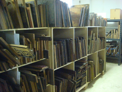 Shelves of illustration cuts