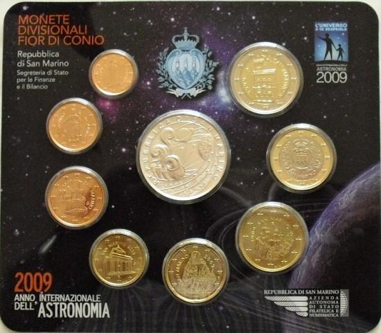 Oficiálna sada 1 cent - 5 euro San Marino 2009