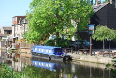 Mirror image on the Canal (Halliwell_Michael ## Thanks you for your visits #) Tags: trees reflections canals 2009 westyorkshire barges brighouse nikond40x