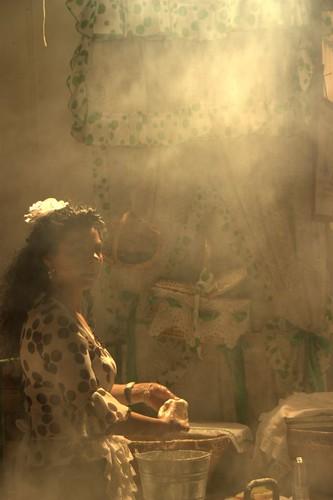 Buñuelera, piel de aceituna