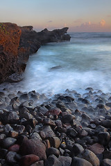 Silence Of Immortality (tropicaLiving - Jessy Eykendorp) Tags: longexposure light sunset sea sky bali seascape southwest beach nature water clouds canon indonesia eos coast rocks shoreline efs 1022mm canggu 50d outdoorphotography tropicaliving mengening