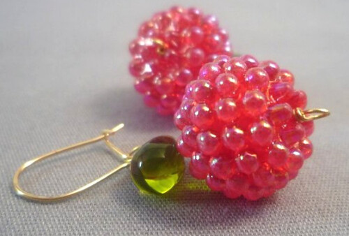Bubbled apple earrings.
