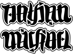 """Nathan"" & ""Michael"" Ambigram"