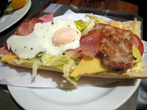 Amazing sandwich, love the fried egg, sunny side up. Its all about the runny yolk.