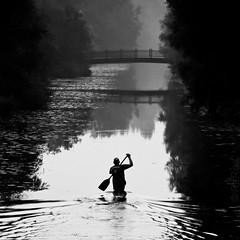 'Into the Silence' (=Я|Rod=) Tags: bridge trees bw mist man water monochrome misty iso800 canal kayak paddle canoe rainy harmony handheld lonely ripples canoeing hazy athlete f71 silently aftertherain contrasts tranquil regen lightroom dunst manpower flatwater diesig 11250s 23ev nikond80 lautlos artlibres luckyphotographer dahingleiten tamron7020028 ©rerod 1552325mm я|r ©reinerrodekohr