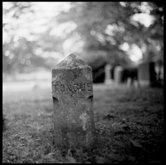 Tongue (photo_secessionist) Tags: bw macro slr 120 6x6 film church cemetery analog mediumformat square blackwhite dof maryland ukraine homemade marker kiev arsenal ilford fp4 stjames ussr cccp salut rusian салют autaut lusbymaryland saluts bestofbw арсенал салютc vega12bf2890mmlens