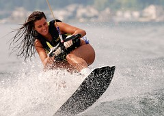 The Perfect Smile (t i g) Tags: lake water fun wake action christine wakeboarding splash sammamish kindel photo365 lakesammcontest photo365kindel