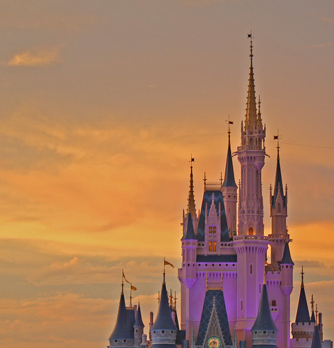 Disney World trip - day 7 - Cinderella Castle floating in the clouds