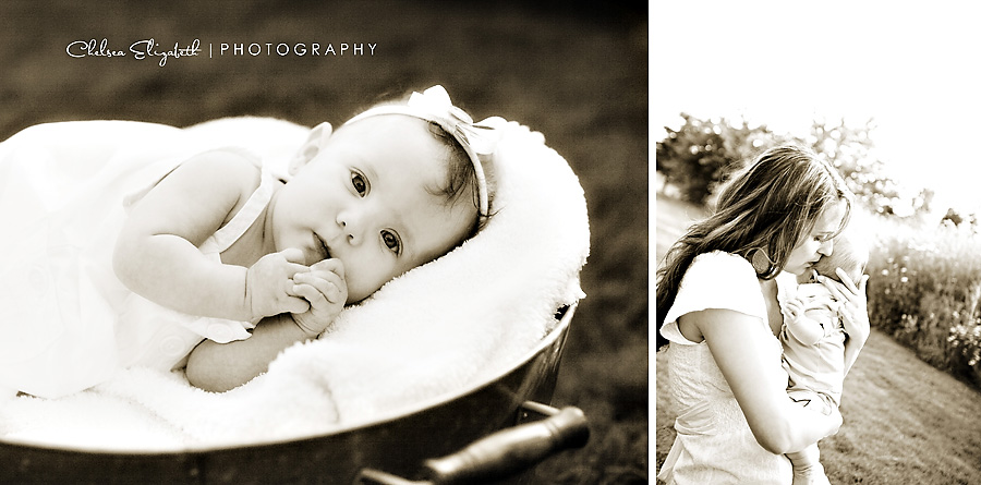 sepia baby girl portrait portland oregon