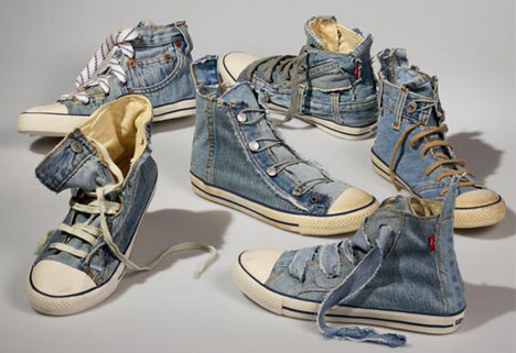 Levis-Reused-Jeans-Shoes