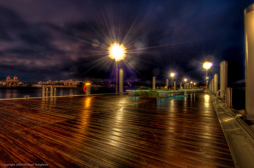Water drops on the lense and loosing light, time to pack it up! - new docks in West Palm Beach, FL
