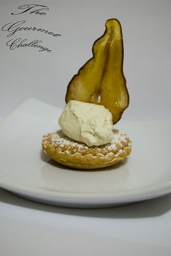 Almond frangipan tart with toffee pear 4