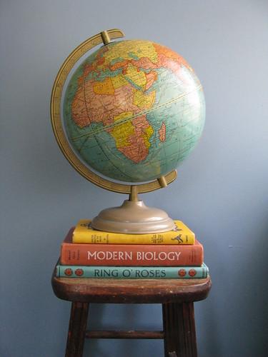 Vintage 1960s Cram's Terrestrial World Globe