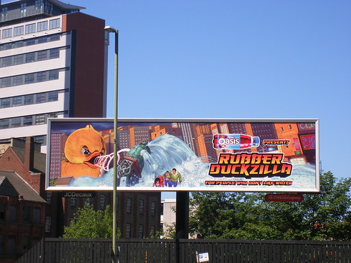 Rubber Duckzilla billboard in Birmingham