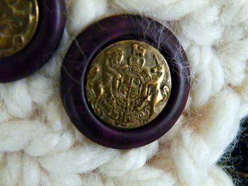 Purple Lion & Unicorn Buttons