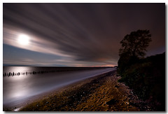 MOONSET AND BLACK CLOUDS (_Val W) Tags: longexposure nightphotography ontario lakeerie shorelines greatlakes beaches moonlight afterdark thebeach startrails erieau pentaxk10d windsandandwater nocturnalmasterpiece valwest imgp1404