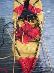 Tartan Sock heel shaping