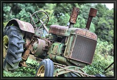 Missouri Farm nothing runs like a Deere! (Bettina Woolbright) Tags: tractor chicken animals bokeh farm country farmanimals johndeere bettina woolbright missourifarm bettinawoolbright bettinawoolbrightphotography